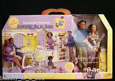 """Grandma's Kitchen Happy Family Barbie Doll Grandparents GiftSet Grandpa Grandma"""""""
