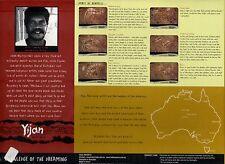 Set 6 Platzuntersetzer aus Kork mit Aboriginal Art Design von Yijan: Rock Art