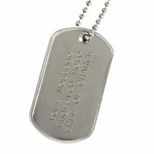 Army Dog Tag Engraved Message Personalised Gift Custom Engraving Free Chain