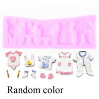 3D Silicone Baby Clothes Shower Cake Fondant Mould Chocolate Baking Mold Decor