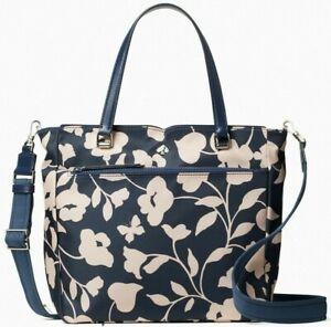 Kate Spade Jae Satchel Garden Vine Nylon Crossbody WKRU7034 NWT $259 Retail FS