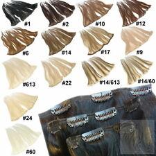 Remy Echthaar Clip In Extensions Set Haarverlängerung 13 Haarteile 40 45 60 cm