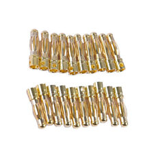20x Golden Metal 4mm Male Banana  Plug for RC Plane Helicopter Parts