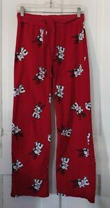 AERO red, fleece pajama pants w/ dogs wearing reindeer antlers. Sz small juniors