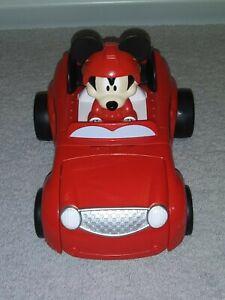 DISNEY MICKEY MOUSE HOD ROD EXPANDABLE RACE CAR ROADSTER 28 LIGHT & SOUND