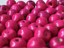 100 x DEEP PINK COLOUR ROUND WOOD BEADS 10mm = W0119