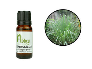 Essential Oil Lemongrass 100% Pure Natural Aromatherapy 10ml - 1 Litre UK