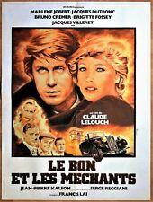 1976 * LE BON ET LES MECHANTS * LELOUCH * DUTRONC * JOBERT * FOSSEY * 60 x 80 .