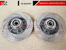 FOR RENAULT CLIO SPORT 172 182 REAR SOLID DRILLED AND GROOVED BRAKE DISC DISCS