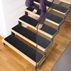 """Delxo 8""""X30"""" Stair Treads Non-Slip Carpet (7-Pack) Anti-Slip Stair Runner For Wo"""