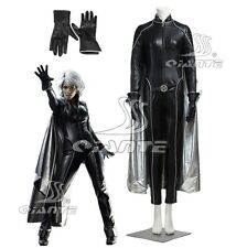 X-Men:The Last Stand Storm Ororo Cosplay Costume Faux Leather Suit with Cape
