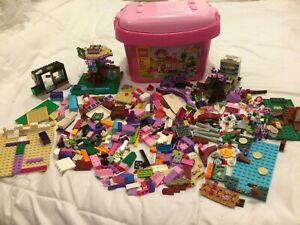 Lego Original Pink Storage Box with lots of Legos reduced