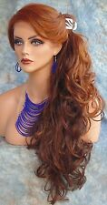 LACE FRONT LACE PIN W/PART CURLEY OMBRE RED GORGEOUS SEXY NEW  US SELLER  207