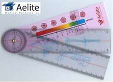 A+Elite Spinal Goniometer Ruler Motion Tester Pain Rating Scale 360 Professional