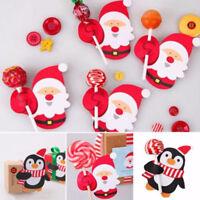 50X Christmas Lollipop Sticks Paper Candy Chocolate Cake Pops Party Decoration