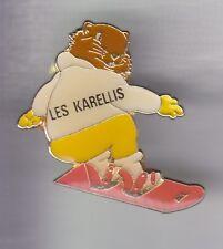 RARE PINS PIN'S .. SPORT SKI SKIING MONOSKI SNOWBOARD MARMOTTE KARELLIS 73 ~ED