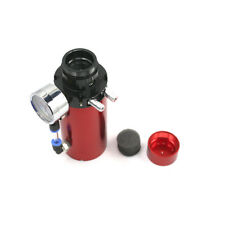 Engine Oil Reservoir Catch Can Tank Kit Breather Filter + Vacuum Pressure Gauge