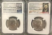 (2) 2017S 50C KENNEDY SP70 ENHANCED FINISH  AS PICTURED ***NICE COINS***