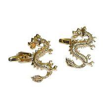 Golden Lucky Chinese dragon Cufflinks
