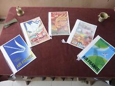 5 menus air france concorde serie affiches d'autrefois