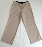 Lane Bryant Womens Size 16 Khaki Tan Pants Wide Leg w Tummy Panel Stretch Cotton