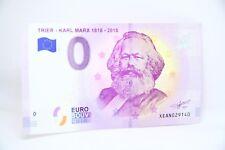 0 € Null Zero Euro Trier Karl Marx 18182018 Geldschein Note XEAN billet Souvenir