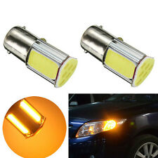Universal High Brightness Amber / Yellow 12V 1156 4 COB LED Turn Signal Lights