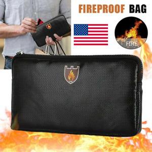 Waterproof Money Bag Fireproof Document Bag Fire Safe Cash Pouch Envelope Holder