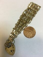 Vintage 9 Carat Gold 9 BAR GATE BRACELET