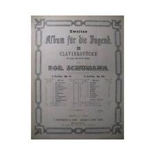 SCHUMANN Robert Abendlied Piano 4 mains XIXe partition sheet music score