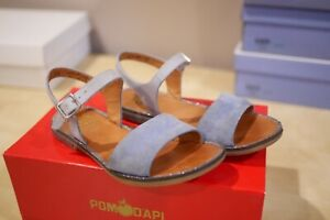 EUC Pom D'api Girls Nikky Glossy Sandal Light Blue Size 31