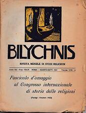 AA.VV. Bilychnis rivista mensile di studi religiosi ago-sett 1923 L5546