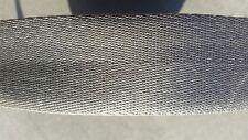 "New 2"" GRAPHITE GRAY 2 BAR Seat Belt Webbing 150 Ft. ROLL 54.5 Yards"