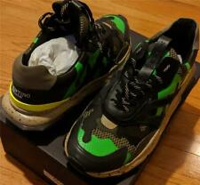 "$895 Mens Valentino Garavani ""Camo Bounce"" Runner Sneakers Green 45 US 12"