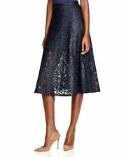 Donna karan Blm  A Line Lace  Midi Skirt Black 8