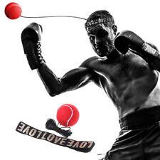 Boxing Ball Reflex Speed Training Fight Headband Muay Thai Combat Red Equipment