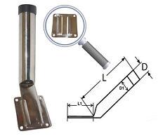 Porte Canne inox Amovible avec Plaque inox 304 - A2 Pèche