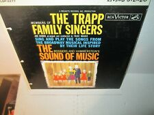 TRAPP FAMILY SINGERS - BROADWAY MUSICAL SOUND OF MUSIC rare Vinyl Lp 1960 Exc