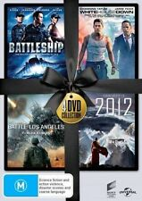 4-movie DVD 2012 Battle Los Angeles Battleship White House Down Region 4 NEW