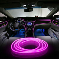 Pink 2M 6.5FT Car Interior Atmosphere Lamp Decoration Cold LED Light Strip Wire