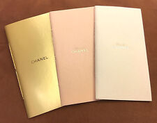 New Chanel Notebook NotePad Set of 3 Gold Feather Hot Stamping on inside page