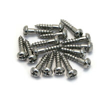 "(16) Gotoh Chrome Phillips 3/8"" Guitar/Bass Tuner Mounting Screws GS-3376-010"