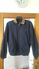 POLO by Ralph Lauren, blu Harrington Giacca con colletto in velluto marrone (taglia m)