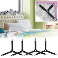 4PCS Bed Sheet Clips Triangle Mattress Grippers Straps Suspender Fastener Holder