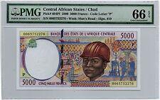 Chad 5000 Francs 2000 (P-604Pf) Gem Uncirculated