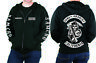 BLACK SONS harley davidson BIKER HOODIE ANARCHY HOODIE FAST POST ALL SIZES