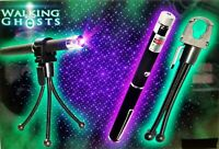 Paranormal Ghost Hunting UV Equipment Kit PURPLE LASER GRID  5MW + HOLDER+TRIPOD