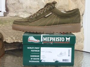 Mephisto Rainbow Comfort Shoes UK10 / US10.5 Loden Green Suede Casual Oi Polloi