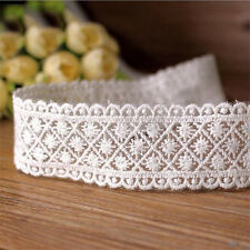 1 Yard Cotton Lace Edge Trim Mesh Embroidered Ribbon Applique Sewing Crafts DIY