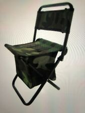 2Camouflage Portable Folding Camping Stool Backpack  Chair Outdoor Fishing